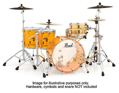 Pearl 22,10,12,16 Crystal Beat Acrylic Shell Pack, Tangerine Glass (NEW)