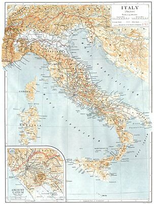ANCIENT ITALY. Inset map of Ancient Latium 1910 old antique plan chart