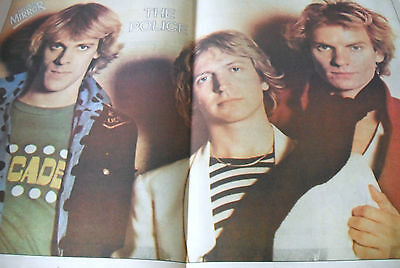 The Police Double Page Magazine Poster 1980`s