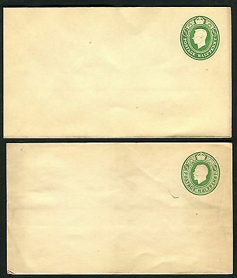 GB KGV/VI 1/2d green envelopes mint # EP69 & EP74