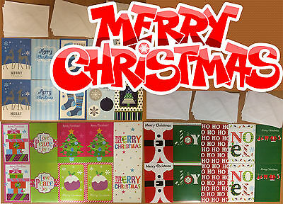 10x pack Christmas Cards Holiday Xmas Greetings 145mm x 100mm Envelope