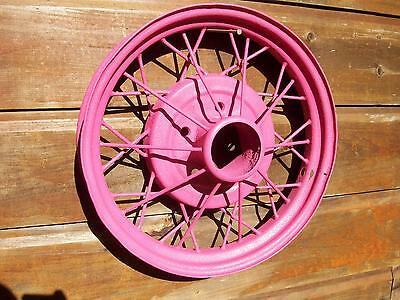 Indiana Barn Find-Vintage Ford Wire Spoked Wheel-Great Garden Decor