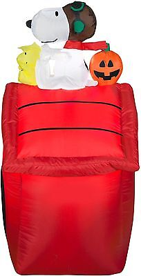 3.5 ft Snoopy Dog House Airblown Halloween Decor Peanuts By Schulz