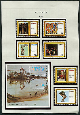 Grenada 1980 MNH collection - incomplete
