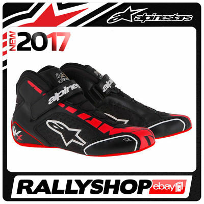 ALPINESTARS karting shoes TECH 1-KX BLACK WITH RED NEW 2017 kart racing BOOTS