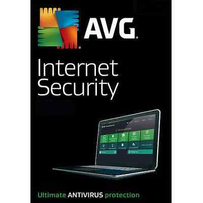 AVG Internet Security 2017 For 1 PC 12 Month License 1 User 2017