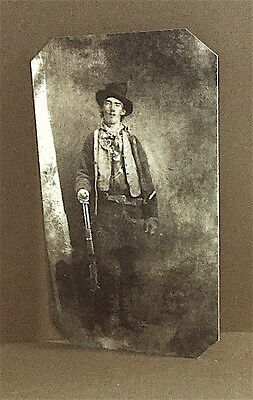 Billy The Kid Most Notorious Outlaw  TinType 101NP