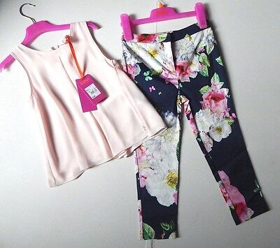 Girl's Ted Baker Beautiful Party Christmas Outfit Set Age 7 Pink New £34.