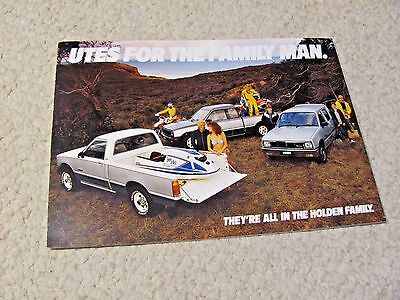 1985 Australian Holden Rodeo Utes Sales Brochure..