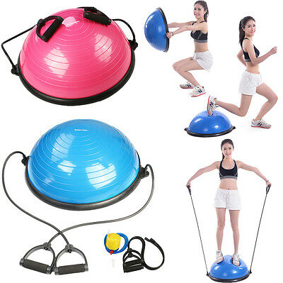 Bosu Ball Yoga Balance Trainer Ball Fitness Exercise Workout with Pump 58CM