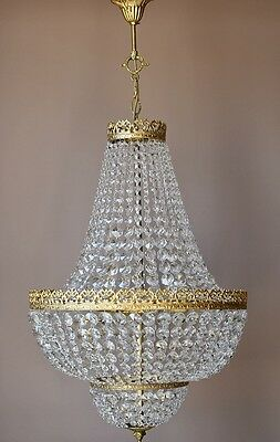 "19.68"" Antique French Vintage Crystal Chandelier Lamp Home Lighting Dining Room"