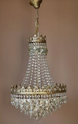 Home Lustre Antique French Vintage Crystal Chandelier Lamp Victorian Lighting