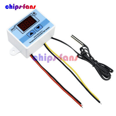 DC 220V Digital LED Temperature Controller 10A Thermostat Control Switch Probe C