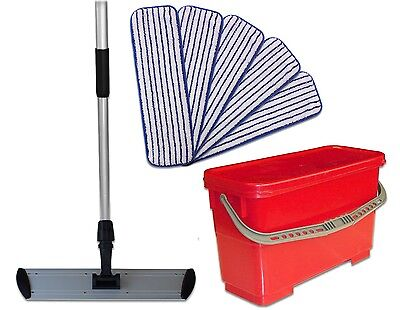 Wax Application Kit | Finish Pads/Flat Frame/Telescoping Handle/Bucket