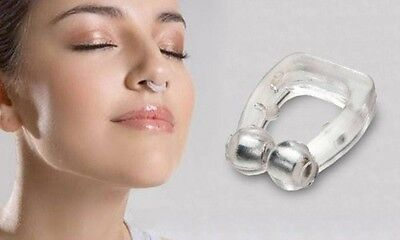 1st Aid Anti Snore Clip Easy Sleeping Nasal Breathe Magnetic Silicone Device