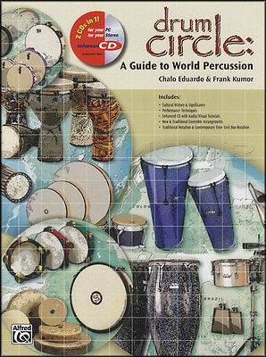 Drum Circle A Guide to World Percussion Music Book Learn How To Play Method