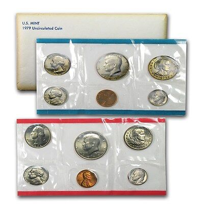 1979 United States Mint 12 Piece set Denver and Philadelphia -- Free Shipping *