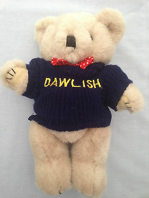 "9"" Jointed Plush Teddy Bear Wearing Dawlish Fisherman's Sweater - Lovely Cond"