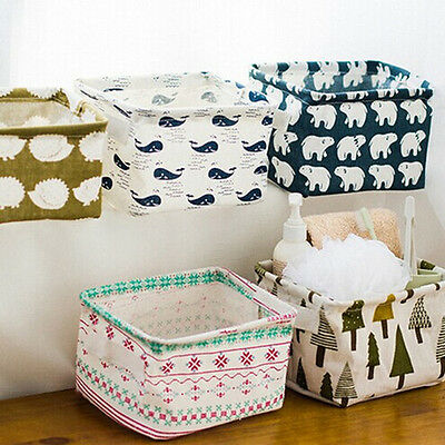 Foldable Storage Bin Closet Toy Box Container Organizer Fabric asket 5 Colors