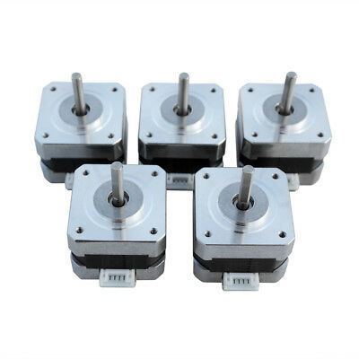 5 of 12V Micro Nema 17 Stepper Motor 1.8° Angle for 3D Printer and CNC Router