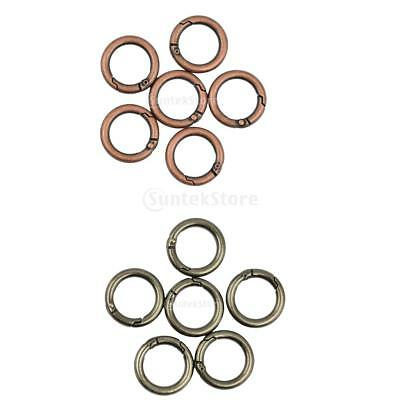 6pcs Alloy Round Circle Spring Snap Hooks Clip Camping 25mm