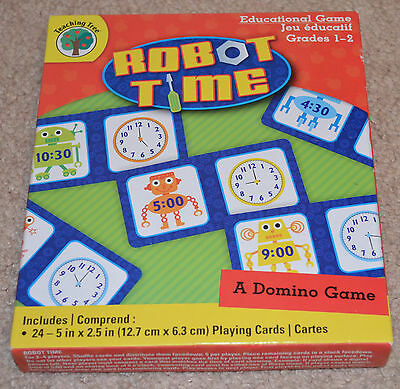 Teaching Tree Robot Time Educational Game A Domino Game Grades 1-2