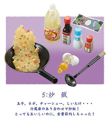 Re-ment Fried Rice #5 Mom's Kitchen Miniature Wok Raw Egg 1:6 NO CARD/BOX USED