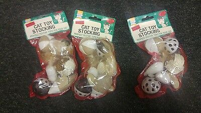 Armitage Pawsley Christmas Xmas Toy Stocking for Cats & Kittens x 3 stockings.