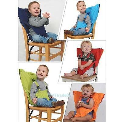 Portable Baby Infant High Chair Dining Safety Seat Belts Folding Feeding Strap
