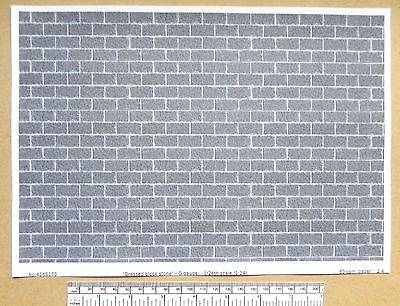 "G gauge (1:24 scale) "" Dressed block stone "" -  paper- A4 sheet"