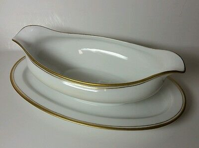 Antique Hutschenreuther Selb Bavaria Louise Gravy Boat With Attached Underplate