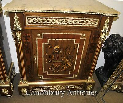 French Empire Cabinet Credenza Marquetry Inlay
