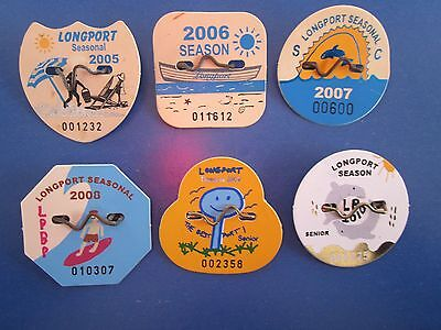 6 Year Collection   Of   Longport   New   Jersey  Seasonal   Beach   Badges/tags