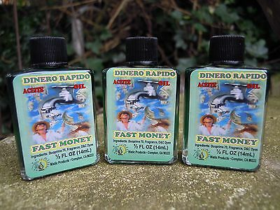 Fast Money oil anointing magical oil spell supplies spells witchcraft