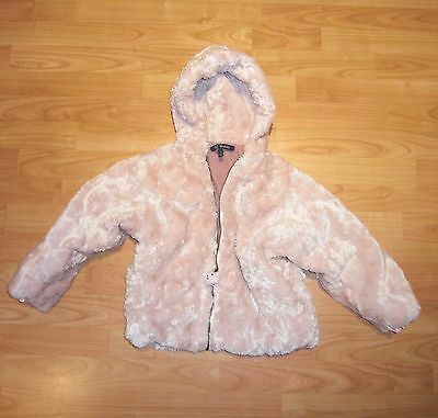 Girls Cosy LIGHT Pink Faux Fur FRENCH Coat age  4 Years
