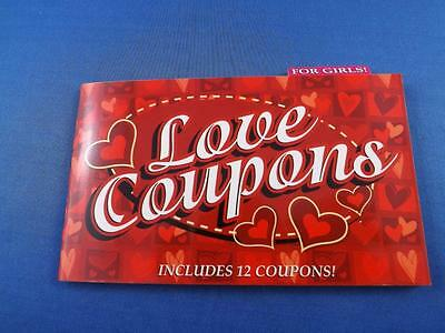 Love Coupons Booklet 12 For Girls Kisses Romantic Picnic Body Massage Snuggling