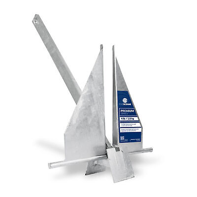 Traditional Danforth Style Fluke Anchor, Hot Dipped Galvanized, 4 LB FO-3939