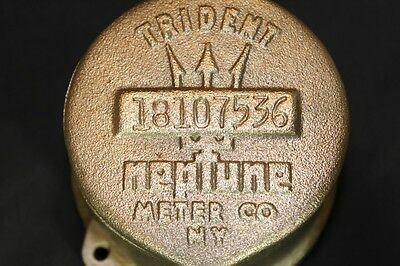 Vintage Neptune Trident Water Meter Cover Steampunk