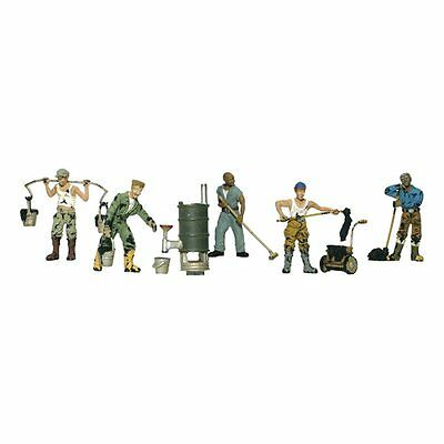 Painted Roofers (OO/HO figures x 6) Woodland Scenics A1828 - free post