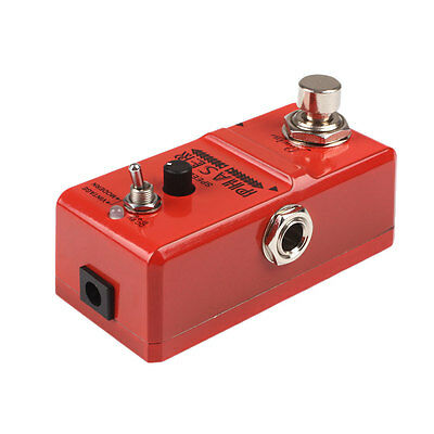 Portable Vintage Metal Analog Phaser Guitar Effects Pedal With True Bypass