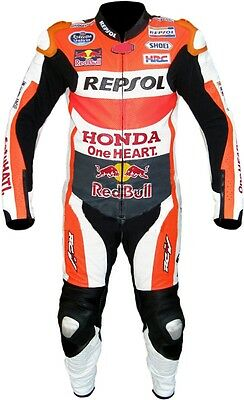 REPSOL MOTOR GP Marc Marquez 2016 Motorbike Cowhide Leather Suit all sizes 1 pcs