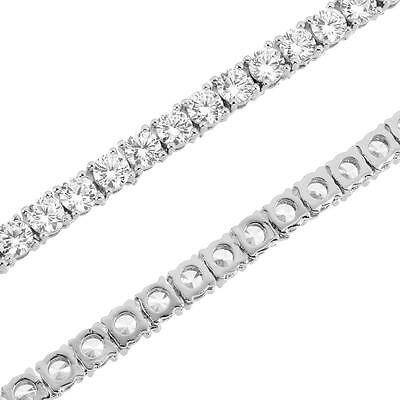 """Tennis Link Necklace 4mm Chain Solitaire Simulated Diamond 18""""-24"""" Inch 1 Row"""
