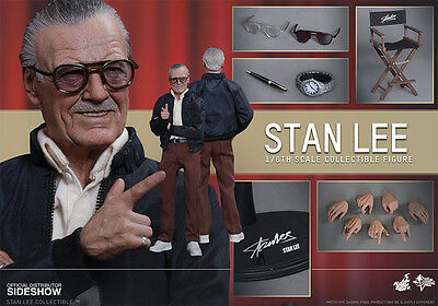 Hot Toys 1/6 Stan Lee Nuovo New In Stock Brown Box