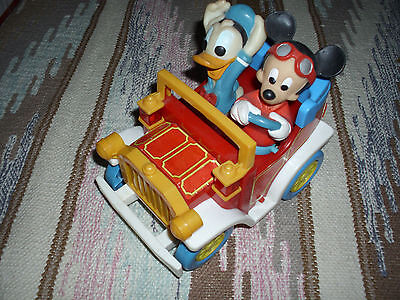 Illco Mickey Mouse & Donald Duck Battery Operated Toy Car