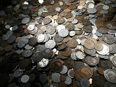 QUALITY JOB LOT OF OLD COINS silver brass copper nickle