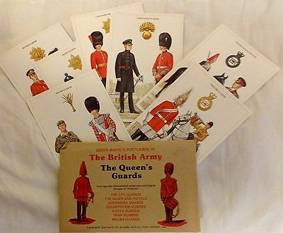 Set of Seven(7) Military Postcards of The Queen's Guards Mint UNUSED