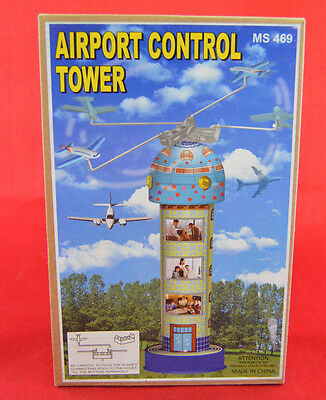 Schylling Airport Control Tower Wind Up Tin Toy Box Reproduction MS469