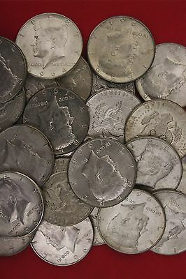 MAKE OFFER 4 Troy Ounces 1964 Kennedy Half Dollars 90/% Silver Junk Coins Bullion