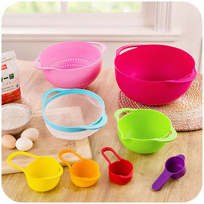 Useful 8 Piece In One Set Multicolor Creative Kitchenware Set Kitchen Bowl New