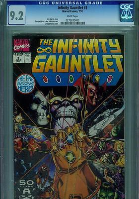 The Infinity Gauntlet #1 Cgc 9.2, Thanos, Tie In To Avengers Movie, 1991